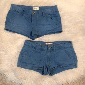 Hollister Girls Blue Chino Short Shorts Size 1
